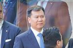 苏宁董事长张近东观战国米 握手萨内蒂