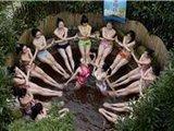 湖南瑜伽达人低温在室外冬训