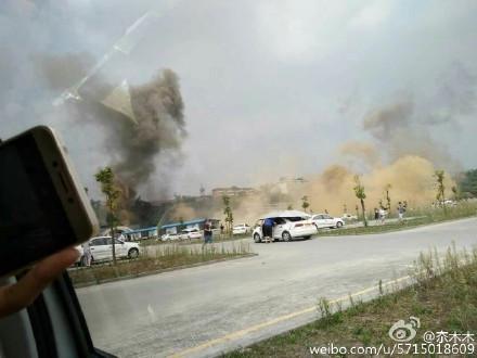 四川自贡鸿鹤坝化工厂发生爆炸 伤亡不明