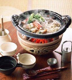 日式小火锅,是日本的传统饮食方式,古而有之,历史久远,味美新鲜.图片