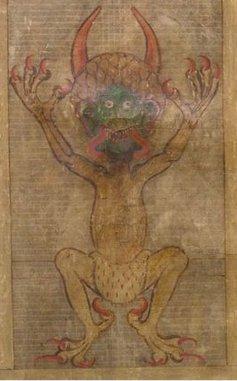 六翼骷髅死神镰刀图 壁纸