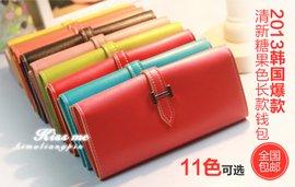 2013年韩国爆款糖果色女士长款钱包一个 十一色可选 简约而高清图片
