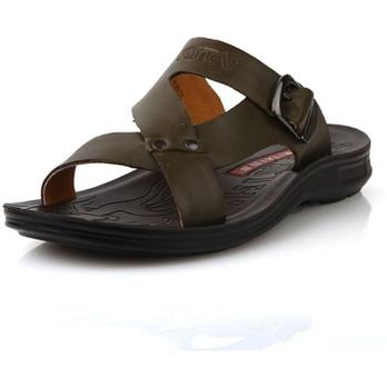 日泰2012新款夏季男士凉鞋凉皮鞋真皮正品沙滩鞋男皮