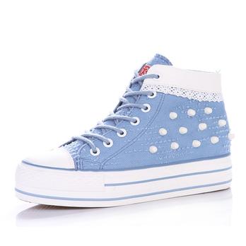 鞋女内增高 布鞋女鞋韩版潮厚底