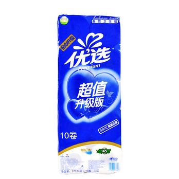心相印优选升级版系列145克三层卷筒卫生纸 蓝色 10-心相印优选 心相图片