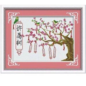 精准印花十字绣 许愿树