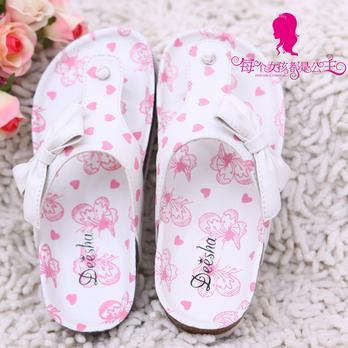 女童鞋夏新品白色百搭凉拖鞋21054
