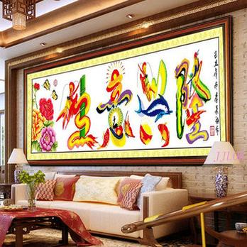 十字绣新款 大幅_餐厅十字绣图案新款