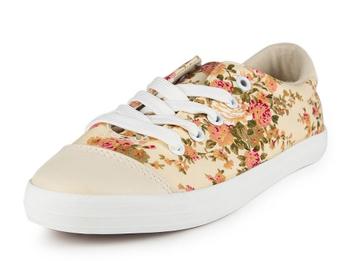 脚王 米色 女 帆布鞋