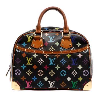 )黑三彩女士手提包