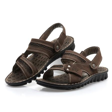 homme维戈男士凉鞋休闲皮凉鞋鞋
