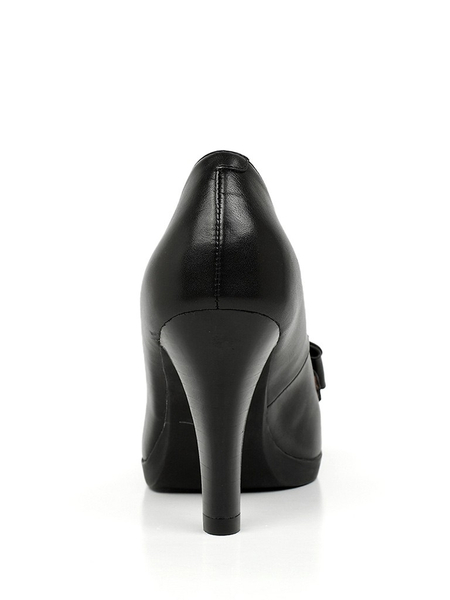 tata/他她2013黑色小牛女单鞋