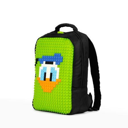 顽意帆布二代diy像素双肩背包/电脑包-绿色