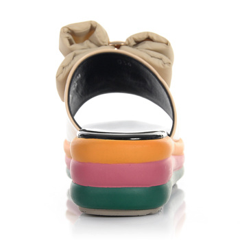 omig/欧米高012夏季新款女鞋厚底松糕凉鞋漆皮坡跟结