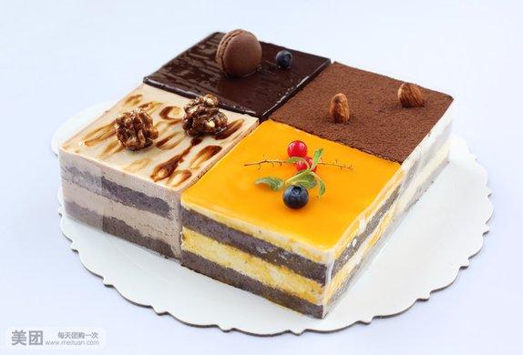 蛋糕6选1,约10英寸,正方形