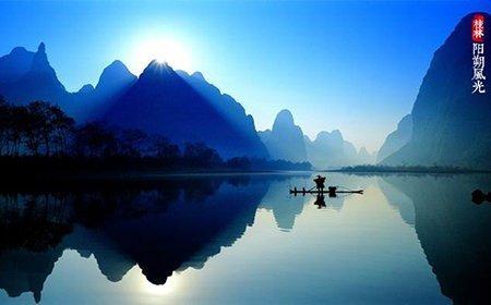 桂林山水儿童画_绘画分享