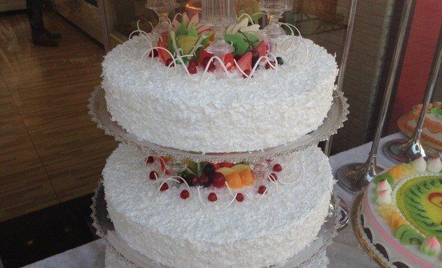 22英寸8层欧式婚礼蛋糕1个