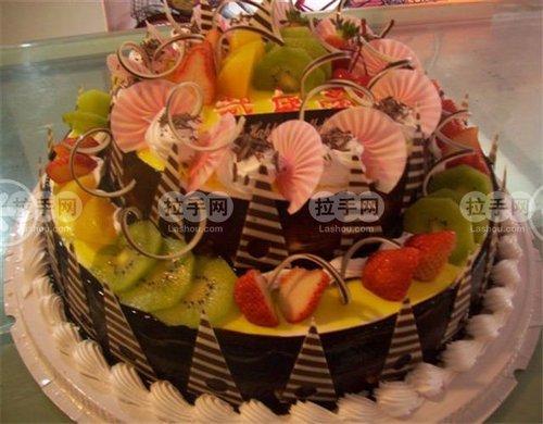 双层欧式蛋糕1个,提供免费包装