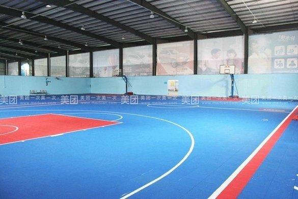篮球场设计平面图   标准的羽毛球场和半场篮球场!   篮球场