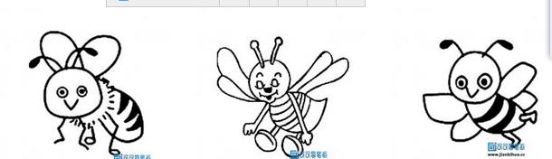 蜜蜂怎么画简笔画