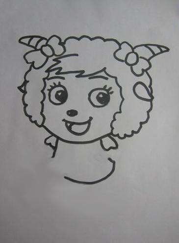 怎么画美羊羊