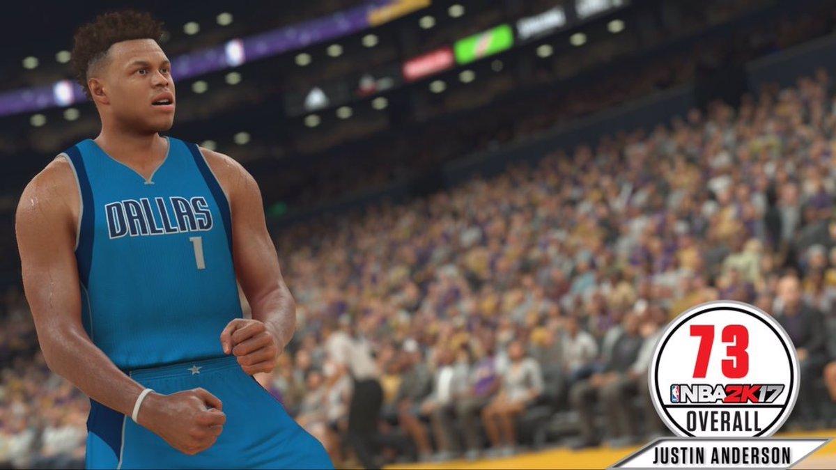 《NBA 2K17》球员能力值实时更新