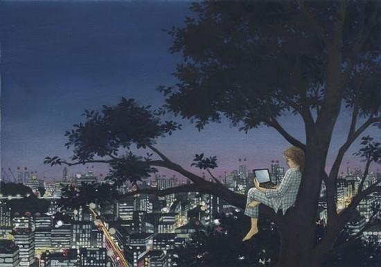 唯美夜景动漫图片