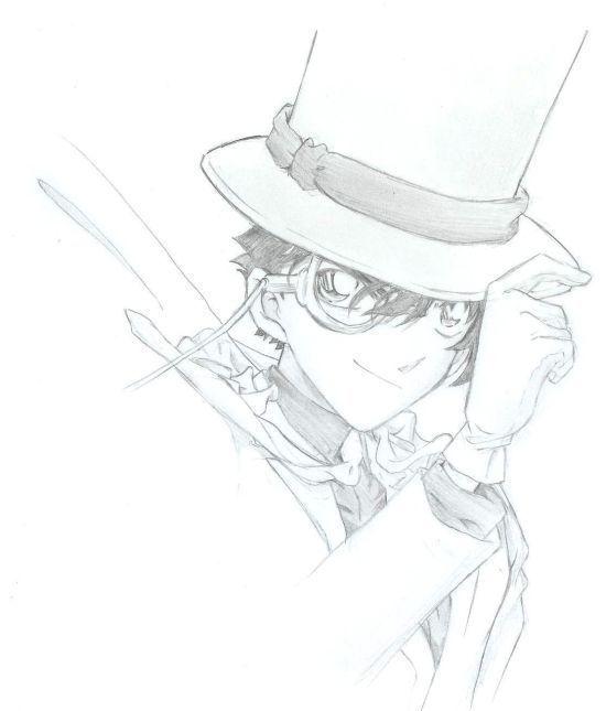 动漫男生素描铅笔画