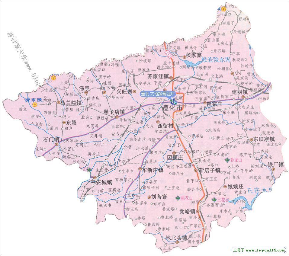 遵化市地图