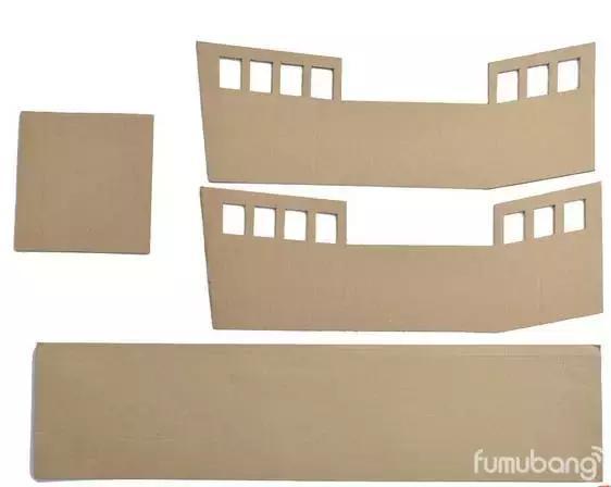 需要准备大纸箱 简易小汽车 男孩子喜欢交通工具,用纸箱做几个,供他们