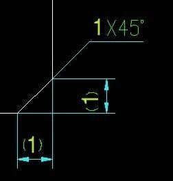 CAD中一个意思标注1乘45度是视图_360cad的正歪怎么了搞倒角图片