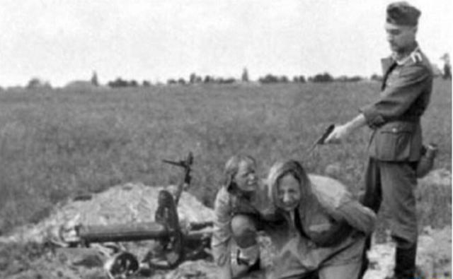 德军枪杀苏联女兵图片