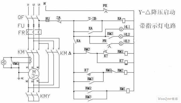 30kw电机星三角启动接线两地控制线怎么接