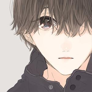 动漫手绘男子侧脸