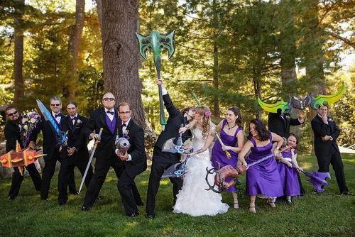 魔兽玩家婚礼现场