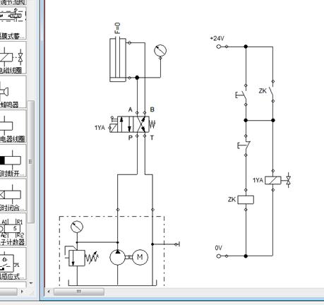 festo仿真软件中液压及电控系统的工作原理