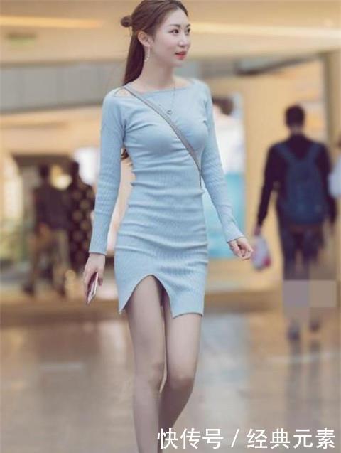 街拍:美若天仙的小姐姐,走路自带气质,让人心动的感觉