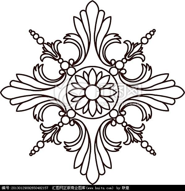 欧式图案欧式雕花图案欧式雕花图案矢量图