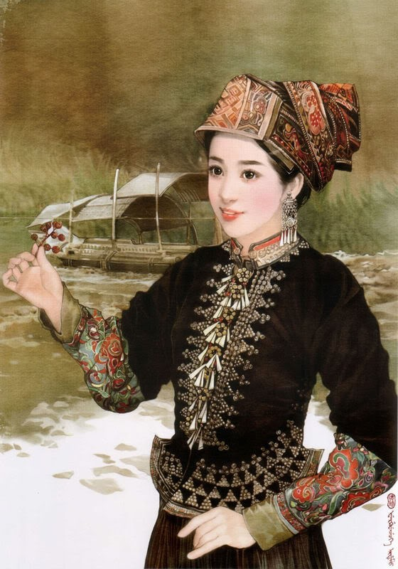 少数民族美女图之傈僳族、藏族、壮族、朝鲜族