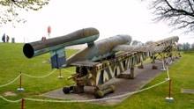 纳粹V1导弹发射画面!德军射出2万枚导弹,造成11000人死亡
