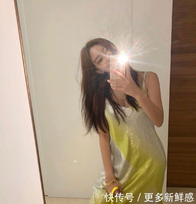 31岁韩流女神朴孝敏人气大不如前?穿柠檬黄亮片裙,身材堪比模特