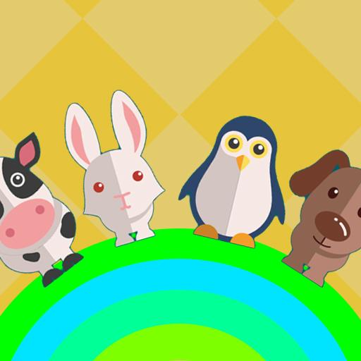 这里有好多可爱的动物:兔子,狐狸,大象,老虎,企鹅,小狗,小牛等等.