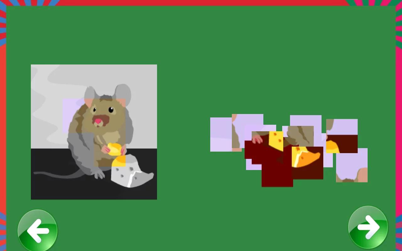 动物拼图游戏  描述动物拼图游戏有关可爱的动物!