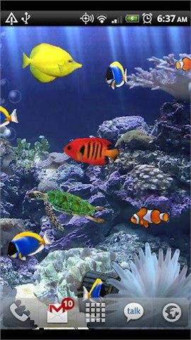 热带水族馆动态壁纸截图2