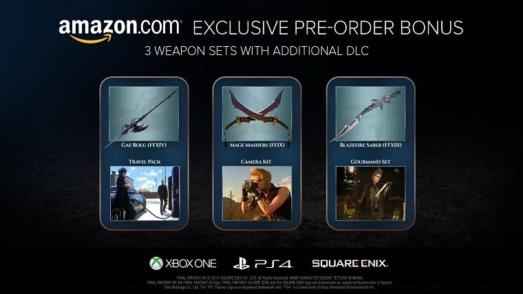 《最终幻想15》亚马逊预订特典