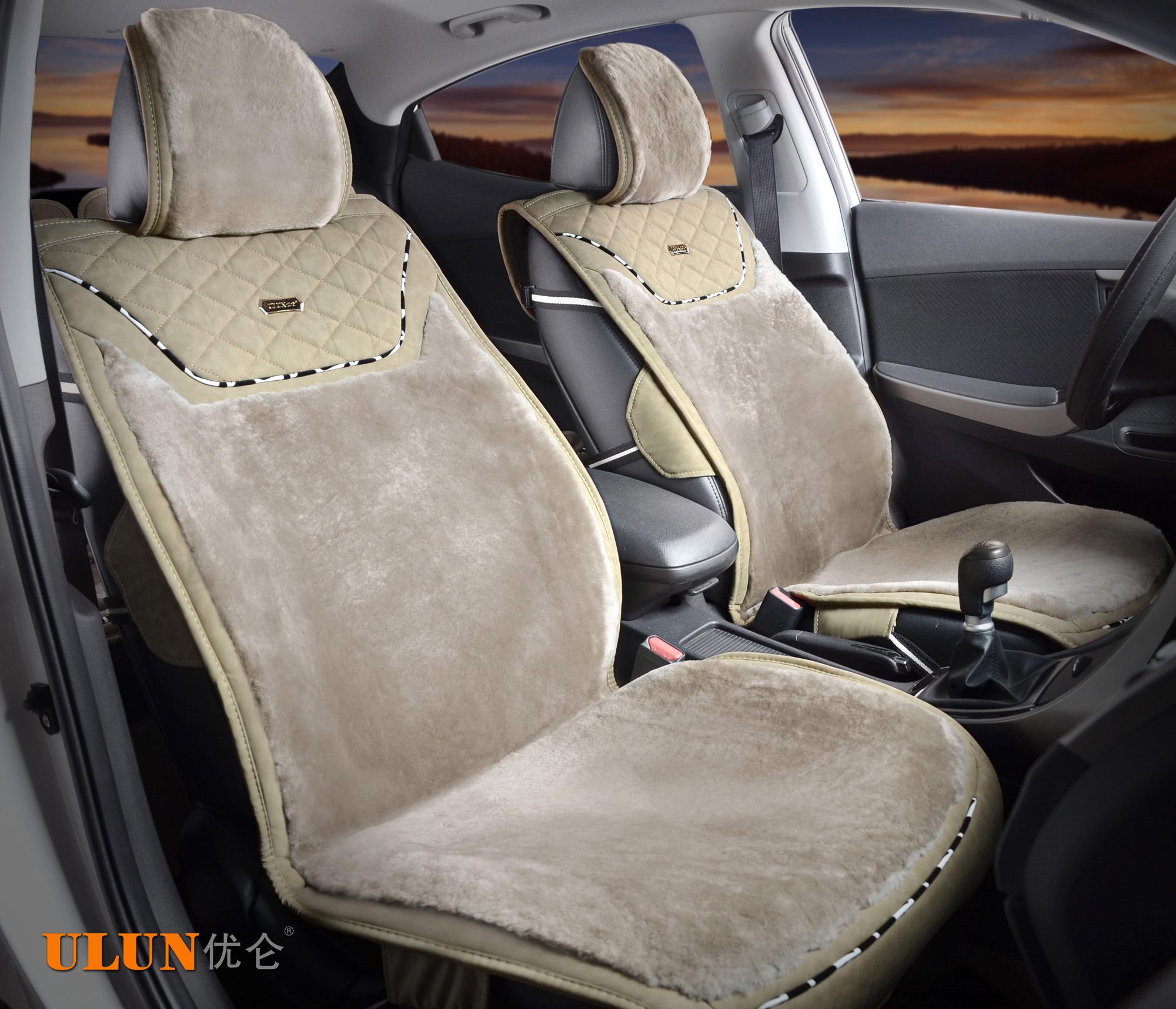 汽车前排座套安装图解