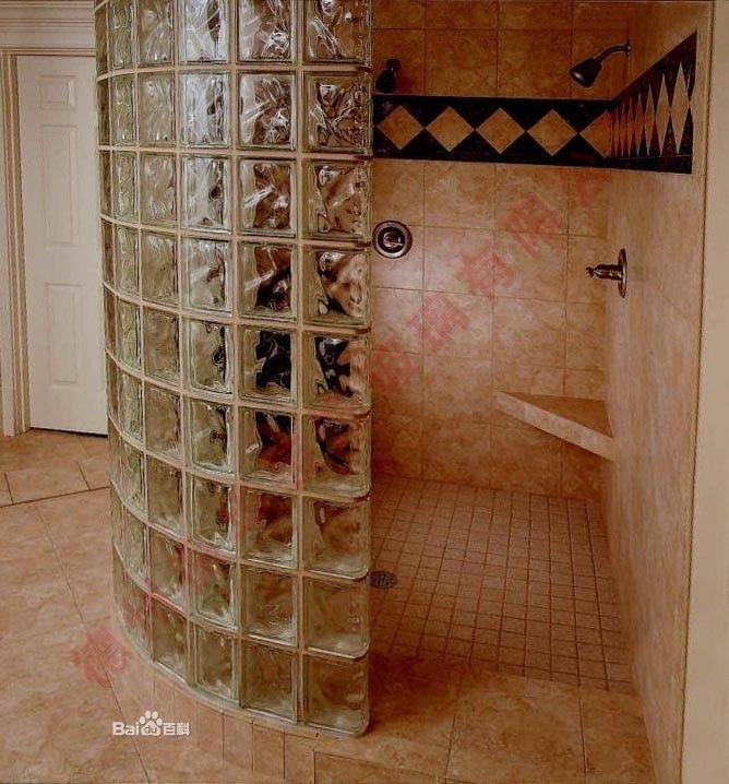 空心玻璃砖卫浴隔断效果图(20张)