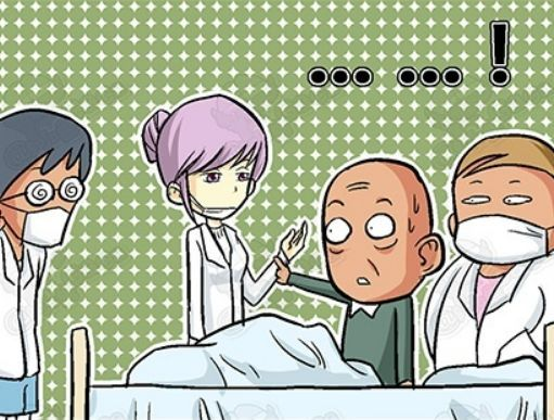 搞笑漫画:年迈漫画在大叔碰瓷,真是每天都有新货币医院反假图片