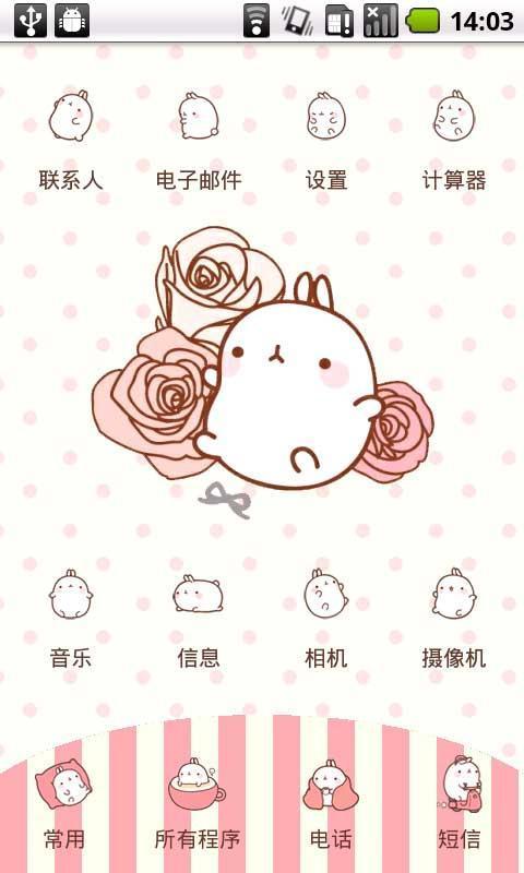 可爱胖兔子手机壁纸