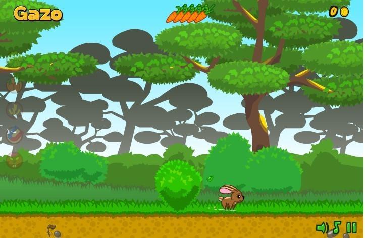 很多动物一起在森林奔跑的图片